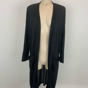 Buy 2 Get 2🎁BCBG Long Black Cardigan Large NWT